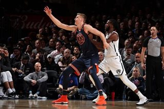 Porzingis, Knicks complete sweep of Nets