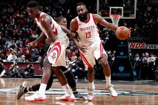 Harden scores 36 as Rockets top Nets