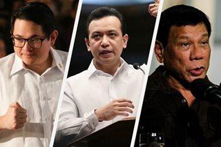 2 senador, umalma sa pag-aming diktador ni Duterte