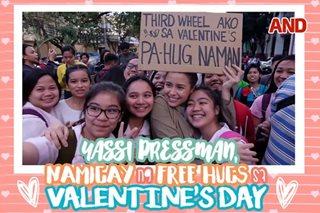 Yassi Pressman, namigay ng free hugs sa Valentine's Day