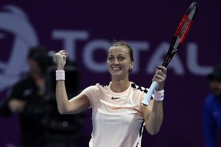 Kvitova knocks out Wozniacki to set up Qatar final with Muguruza