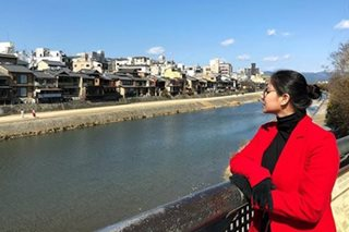 LOOK: Angel Locsin, a stylish 'lady in red' in Japan photos