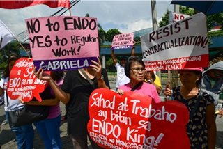 Women workers against 'endo'