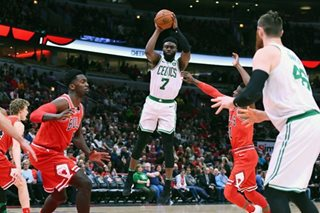 Brown leads Irving-less Celtics to rout of Bulls