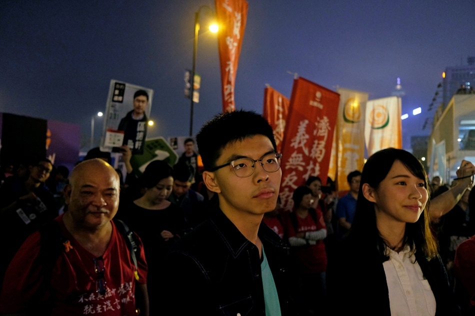 Scuffles at polls in HK by