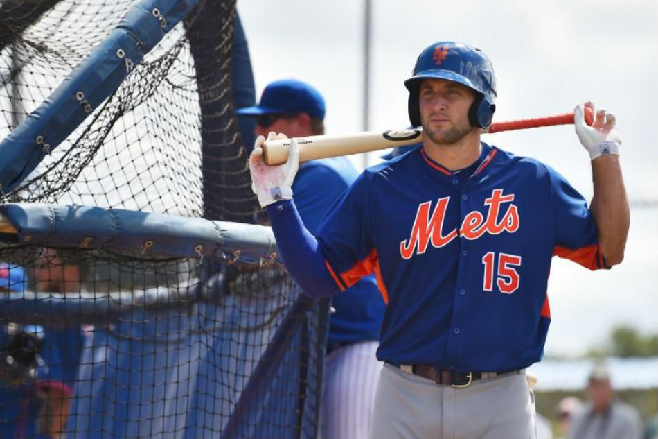 Tebow Cut from Mets Major League Camp After Hitting .056