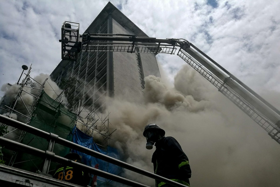 Fire at Pavilion hotel