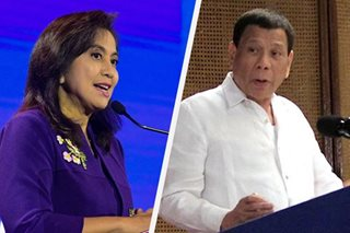 Robredo says no plans to replace Duterte