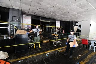 Manila Pavilion lobby after the fire