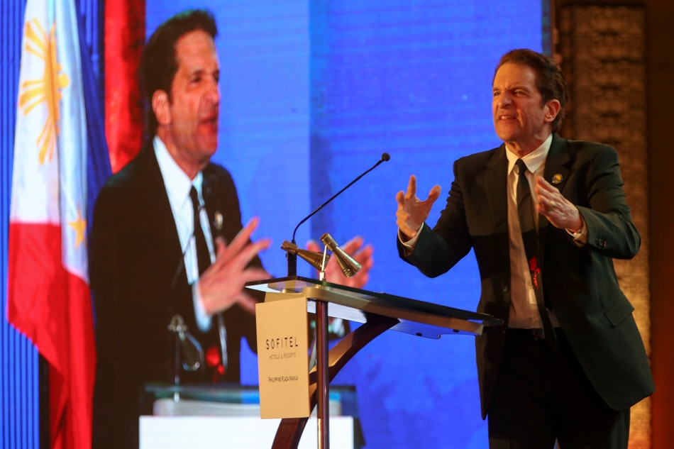 Golden State Warriors' Peter Guber in Manila