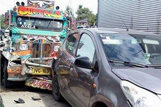 2 sugatan sa karambola ng 3 sasakyan sa Zamboanga City
