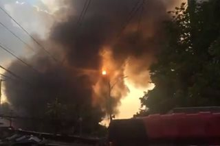 Fire hits residential area near Tomas Morato