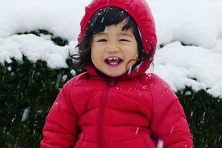 LOOK: Baby Seve Soriano's first snow experience in Japan