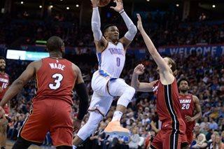 NBA: Westbrook powers Thunder to win over Heat