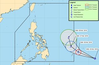 Tropical depression seen entering PH during Holy Week