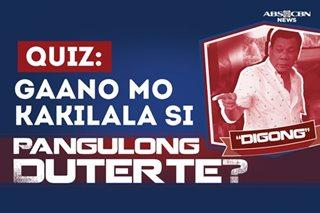 Duterte quiz: Sagutin