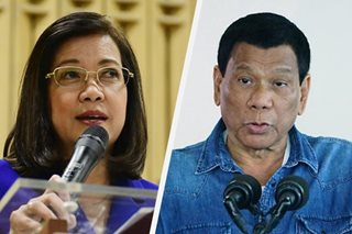 Sereno: Duterte has pattern of attacking democratic institutions