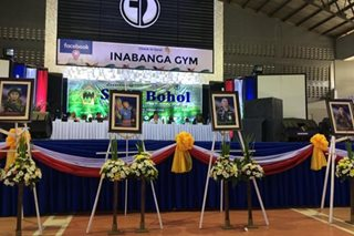 LOOK: Bohol pays tribute to Inabanga's fallen heroes