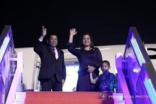 Duterte arrives in Hong Kong