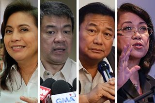 Robredo, Pimentel keep 'good' rating; Alvarez, Sereno fall to 'neutral': SWS