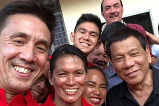 LOOK: Paeng, Bata, Hidilyn Diaz in sports heroes' groufie with Duterte