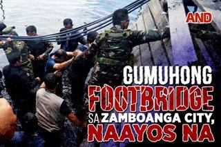 Gumuhong footbridge sa Zamboanga City, naayos na