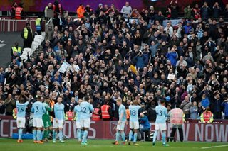 Man City close in on points record with 4-1 win at West Ham