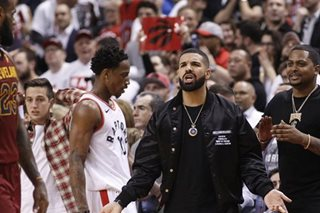 NBA warns rapper Drake after incident with Cavs' Perkins