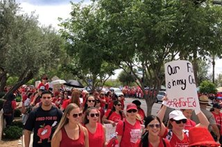 US teachers end Arizona walkout after winning pay raise