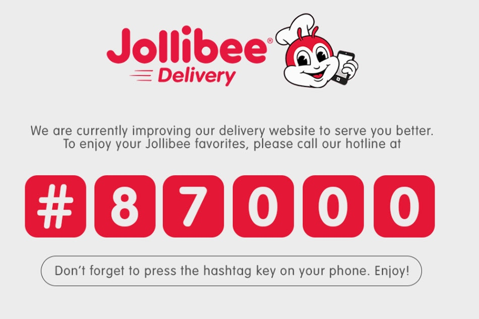 Jollibee Delivery Website Suspended Due To Vulnerabilities