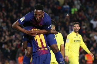 Dembele edges Barca closer to unbeaten season as Real lose at Sevilla