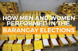 How men and women performed in the barangay elections