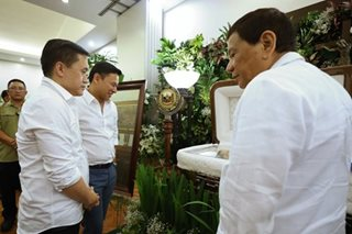 Duterte pays tribute to late Sen. Ed Angara