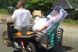 Bride na naka-sidecar patungong simbahan, nag-viral