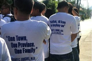 Eriguel supporters hold prayer rally in Agoo, La Union