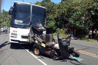 2 patay sa banggaan ng bus at traysikel sa Albay