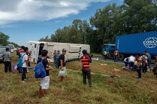 20 injured in Tanauan bus accident