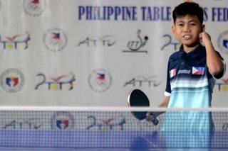WATCH: Nueva Ecija boy making waves in table tennis