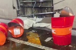 EDSA-Ayala Tunnel, isinara ng 9 oras dahil sa oil spill