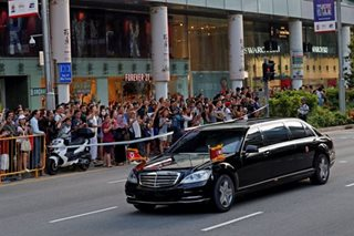 North Korea's Kim Jong Un arrives in Singapore