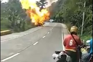 1 hurt after vehicle catches fire in Cebu town