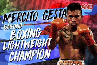 Mercito Gesta, bagong boxing lightweight champion