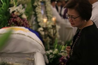 Former National Security Adviser Golez laid to rest