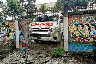 TINGNAN: Ambulansiya ng Zamboanga Red Cross, bumangga sa pader