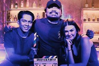 Carlo Aquino, Angelica Panganiban tease fans with shots on set of reunion film