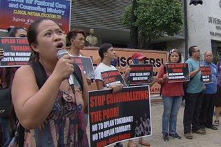 Protesta isinagawa laban sa operasyon ng pulis kontra tambay