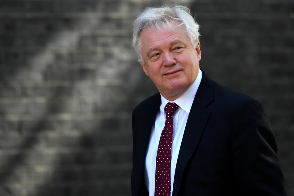 UK Brexit secretary David Davis resigns, Press Association reports