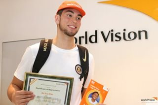 LOOK: Troy Rike turns over P100,000 to World Vision Philippines
