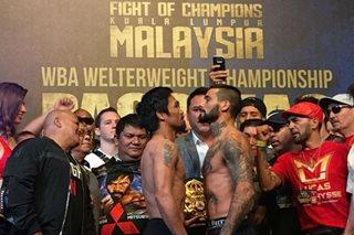 'Ready to Rumble': Pacquiao, Matthysse pasok ang timbang para sa bakbakan sa Linggo
