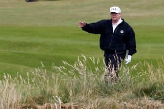 Trump on Scottish golf course as he tees up Putin talks